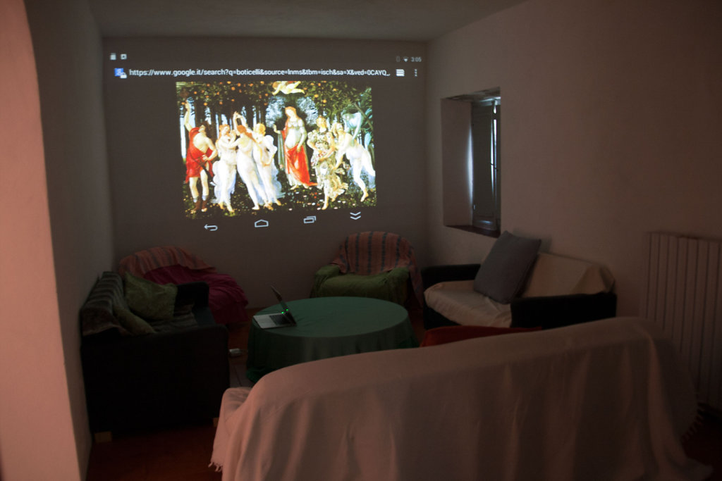 Projector in Living Room for Seminars