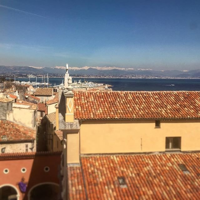 #nice view from #antibes with snow on the mountains in #march