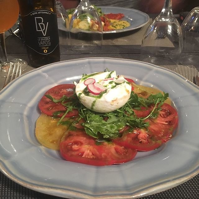 #buratta & #heirloomtomatoes #salad