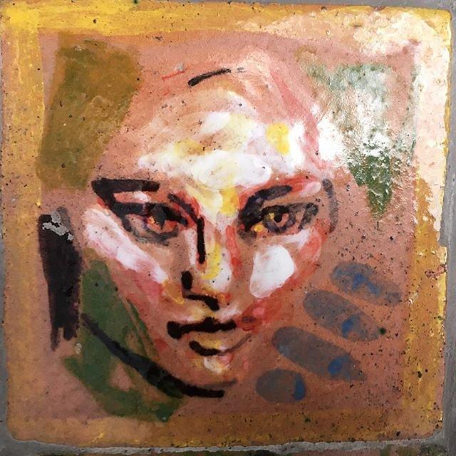 #tilemural #riomaggiore #glaze #faces #texture #tiles